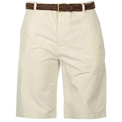 Pierre Cardin pantaloncini da uomo Oxford Extra leggero pantaloni tempo libero corpo bianco M