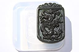 Clear silicone Amulet Pendant Molds,the statue of dragon. Size 55x30mm. (2-66)