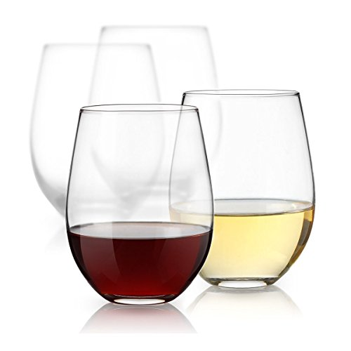 ''Luminarc 15 Ounce Stemless White and Red Wine GLASSES, Set of 12 Tumbler GLASSES Set. Best Wine Gob