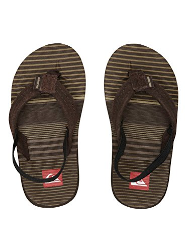 Quiksilver CARVER SUEDE 2 Flip-Flop (Toddler),Brown/Chocolate,Small (3-4 M US Infant)