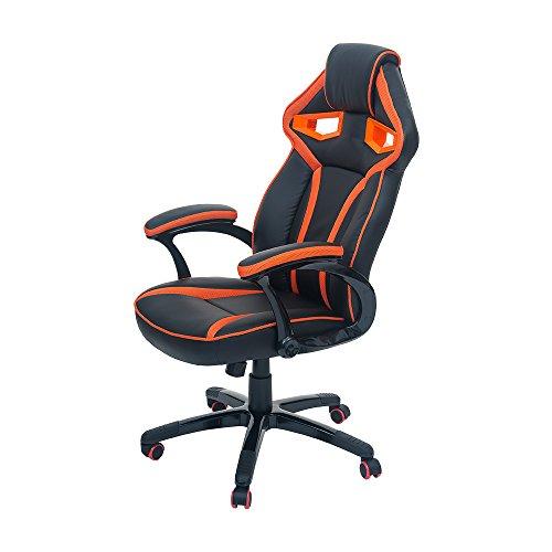 Merax-Stylish-Devils-Eye-Series-High-Back-Gaming-Chair-PU-Leather-and-Mesh-Orange-and-Black