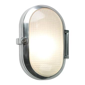 Astro 0326 E27 Toronto Oval Wall Light excluding 1 x 60 Watt 230 V Bulb, Polished Aluminium