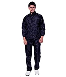 Ellis Mens Polyster Raincoat/Rainsuit/Rainwear (Blue)