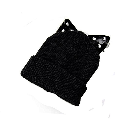 ladies-knitted-woolly-crystal-cat-ear-oversized-slouch-beanie-hat-cap-skateboard-black