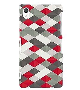 PrintVisa Prisma Pattern 3D Hard Polycarbonate Designer Back Case Cover for Sony Xperia Z2