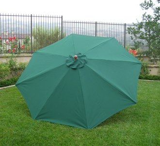 9ft Replacement Canopy 8 ribs in Hunter Green (Canopy only)