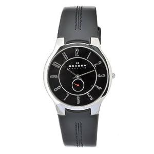 Skagen Men's OT433XLSLB Quartz Black Dial Stainless Steel Watch