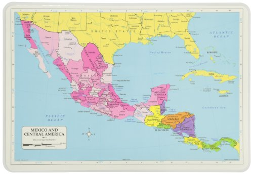 Painless Learning Mexico and Central America Placemat (Central America Poster compare prices)