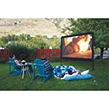 Backyard Outdoor Home Theater In a Box, Portable dvd Projector with Outdoor Movie Screen and Projector Stand!