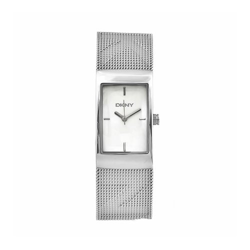 DKNY Women&#8217;s NY4703 Fashion Stainless Steel Mesh Silver Dial Watch
