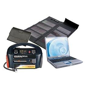 Solar Laptop Charger & Portable Power Kit 300 Watt - 12 Watt Solar Panel