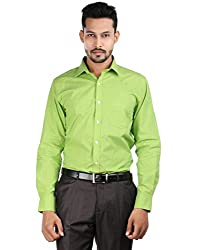 Oxemberg Men's Solid Formal Cotton Lime Shirt