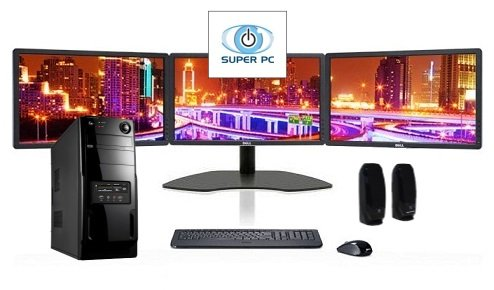 SUPER PC | Three Monitor Computer and Triple LED Display Array | Complete System Package!