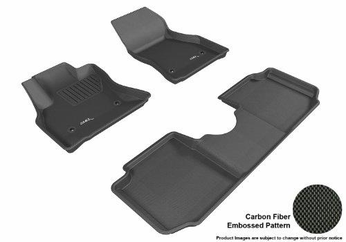 3D Maxpider Complete Set Custom Fit All-Weather Floor Mat For Select Fiat 500L Models - Kagu Rubber (Black)