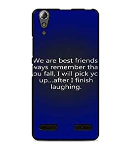 PrintDhaba Quote D-3287 Back Case Cover for LENOVO A6000 PLUS (Multi-Coloured)
