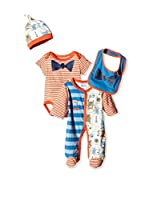 Pitter Patter Baby Gifts Conjunto (Naranja / Azul)
