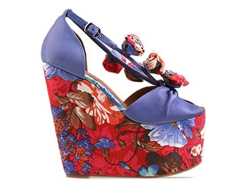 Jeffrey Campbell Rosi Fab in Blue Red Floral Size 9.5