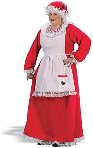Fun World Womens Mrs. Claus Adult Plus Costume Polyester