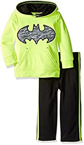 Warner Brothers Boys' Toddler Boys' Batman Athletic Fleece Hoodie and Pant Set at Gotham City Store