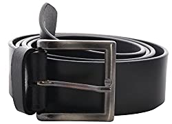 Fashno Men's Leather Belt (FBLT- BR - 02, Brown, Free-Size)