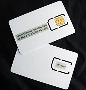 Sim Karte zur Aktivierung Aktivierungskarte activation card für Apple iPhone 4 und iPhone 3G / 3GS