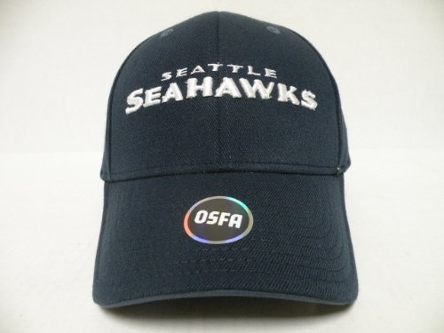 Authentic NFL Seattle SeaHawks Navy Pre Curve Visor Flex One Size Cap at Amazon.com