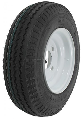 2-Pack Kenda Trailer Tire On Rim #5228 480-8 4.80-8 8 6 Ply Bias LRC 4 Hole Lug White (4 Lugs Rims And Tires compare prices)