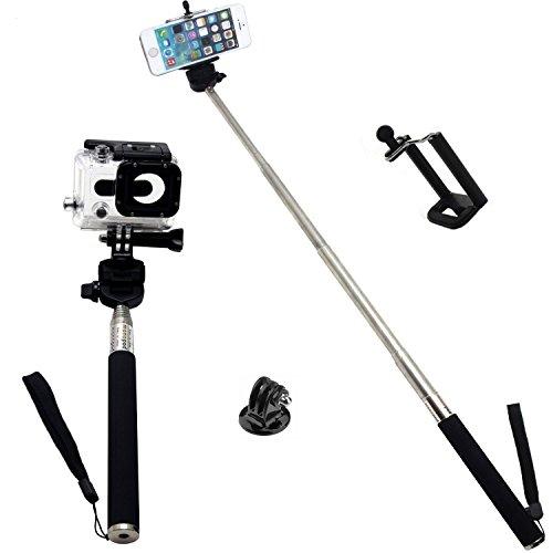 extendable waterproof selfportrait photo selfie handheld stick monopod with a. Black Bedroom Furniture Sets. Home Design Ideas