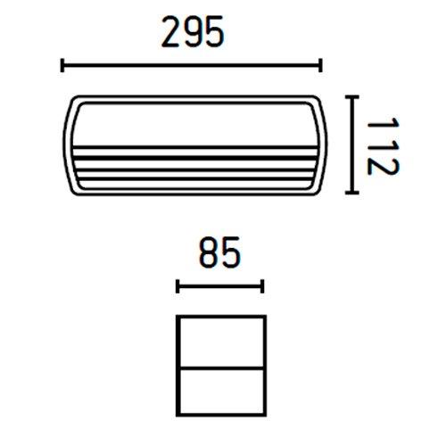 Faro 71365 - COAL Lampe applique gris foncé