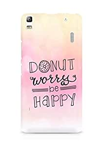 AMEZ donut dont worry be happy Back Cover For Lenovo A7000