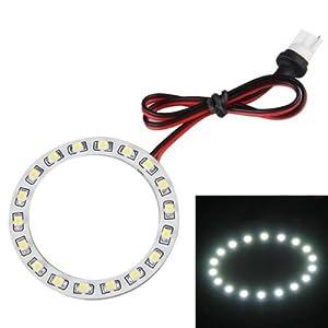 SODIAL(R) T10 ANGEL EYE ANELLO FARO FANALE 18 LED BIANCO MM 60  Illuminazione Valutazione del cliente