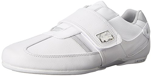 Lacoste Men's Prtctdvar Fashion Sneaker, White/Light Grey, 10.5 M US
