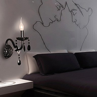 NAUGATUCK - Lampe Murale Bougie Cristal