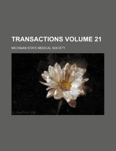 Transactions  Volume 21