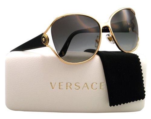 Versace Sunglasses Ve2137 100211 Gold Gray Gradient