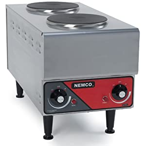 Nemco Raised Vertical Double-Burner Hot Plate, 240V