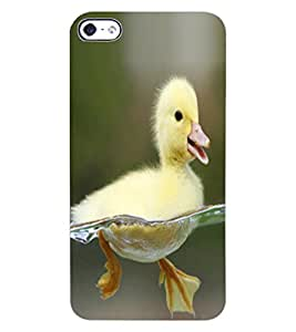 ColourCraft Cute Duck Design Back Case Cover for APPLE IPHONE 4S