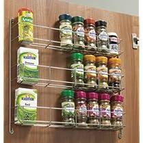 Kitchen Door Triple Spice & pack Rack tier spice rack 288mm
