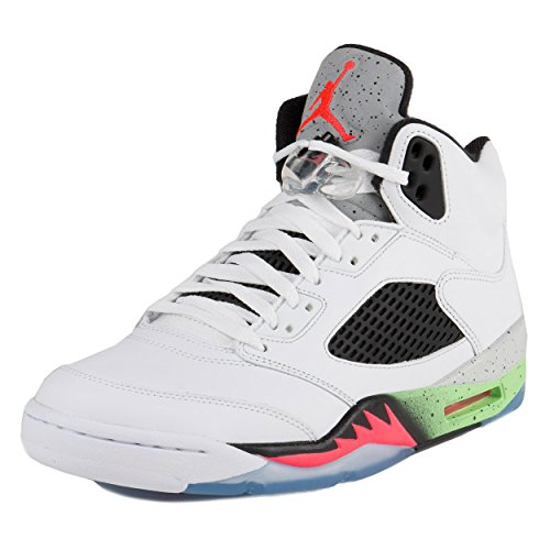 8cbb2fd51d9e pictures of Nike Mens Air Jordan Retro 5 Space Jam Basketball Shoes  White Poison Green