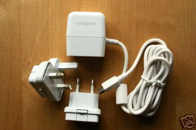 Genuine Creative 3 PIN UK Power charger for Zen V Plus / zen micro microphoto