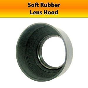 52mm rubber Lens Hood for Canon EF 50mm f/1.8 II Lens (with EOS 50D, 7D, Rebel XSi, XS, T1i, T2i and T3i Digital SLR Camera)