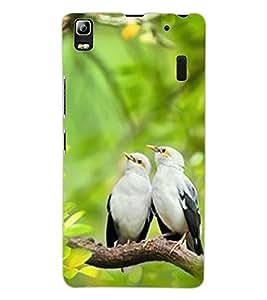 ColourCraft Love Birds Design Back Case Cover for LENOVO A7000 TURBO