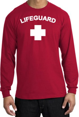 Lifeguard Long Sleeve Top for Men - Many Colors - S to XXXXL