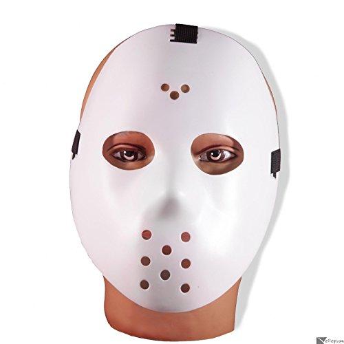 [Forum Jason Hockey Halloween Horror Mask White One Size] (666 Halloween Costume)