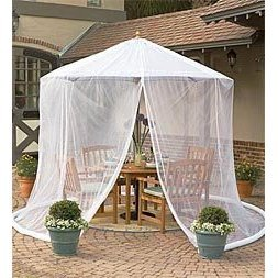 patio umbrella mosquito net by simple diy