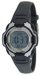 Bonett 1224 Kinder-Armbanduhr Digitaluhr Chronograph - 10 bar, Alarm, Licht, Kalender,Schwarz