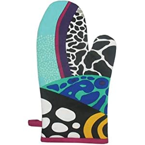 WL 13 inch Blue and Black Coral Reef Motif Collectible Kitchen Oven Mitt at Sears.com