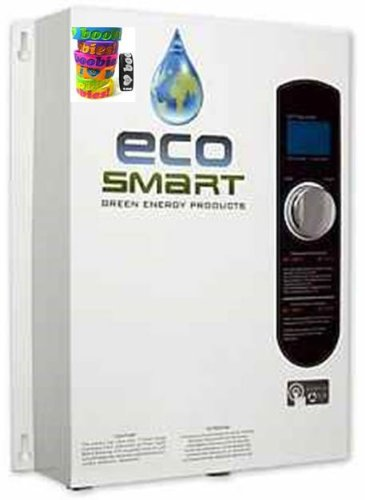 Ecosmart 18 Kw Electric Tankless Water Heater For Use In Southern Us (240 Volt) (75 Amps). Capable Of Heating 2.5 Gallons Per Minute At Temperatures As Low As 62°. Help Increase Breast Cancer Awareness - With A Free I Love Boobies Bracelet.