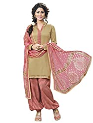 Inddus Womens Synthetic Dress Material (Ind-Sp9-9013 _Copper _Free Size)