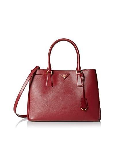 Prada Women's Saffiano Lux Handbag, Cherry